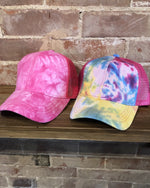 Tie Dye Messy Bun Hat-hat-Cheveux-Multi-Inspired Wings Fashion