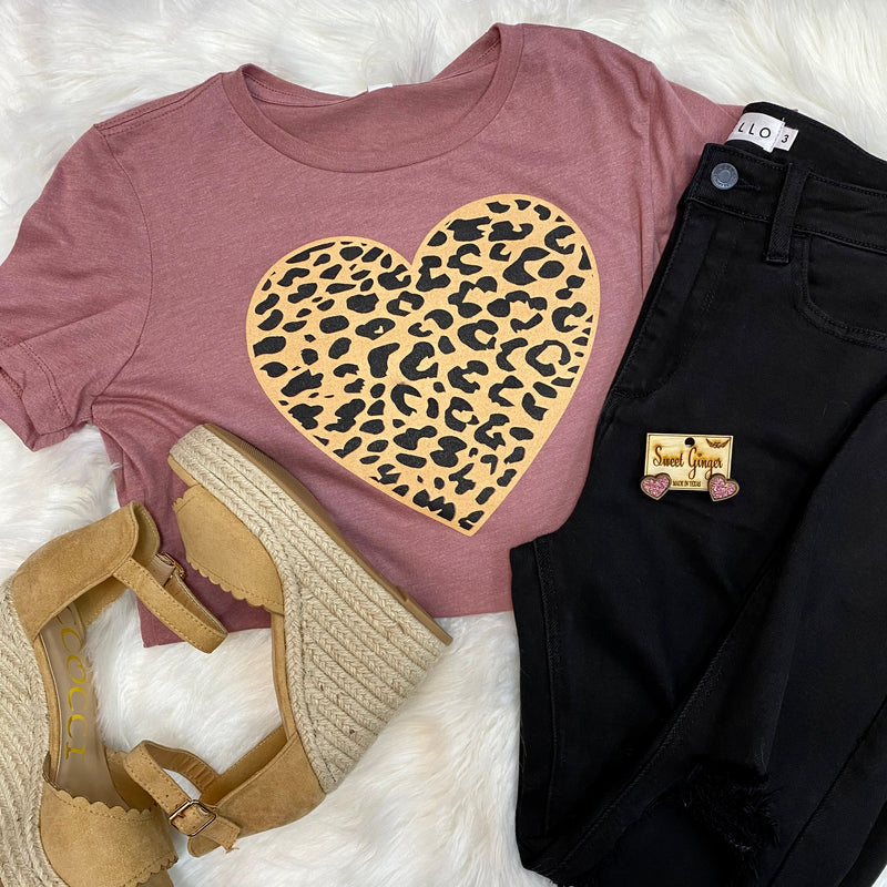 Valentine's Leopard Heart Tee-Tops-Inspired Wings Fashion-Small-Mauve-Inspired Wings Fashion