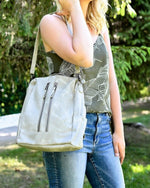Samantha Backpack-Bag and Purses-Julia Rose Wholesale-Gray-Inspired Wings Fashion
