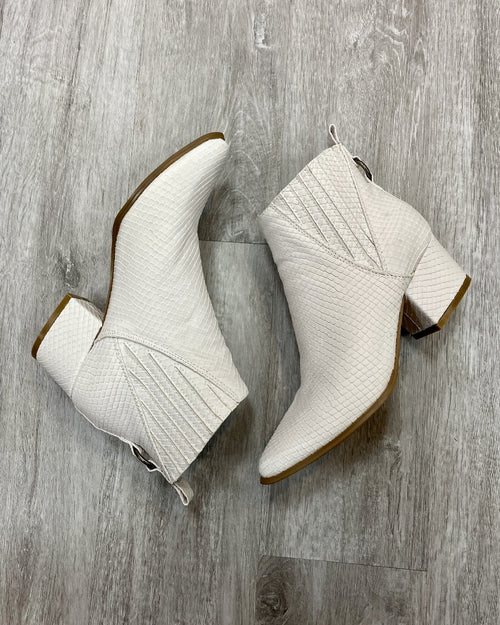 Lovely White Booties-Boots-Very G-6-Inspired Wings Fashion