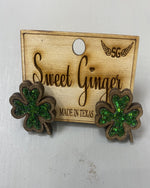 Shamrock Studs-Accessories-Sweet Ginger Jewelry-Inspired Wings Fashion
