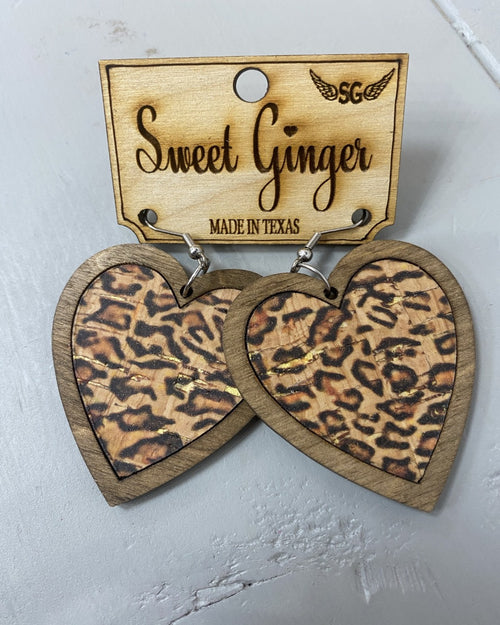Valentine's Earrings-Accessories-Sweet Ginger Jewelry-Leopard-Inspired Wings Fashion