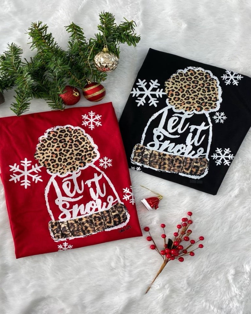 Let It Snow T-Shirt-Tops-Spirit Star-Small-Black-Inspired Wings Fashion