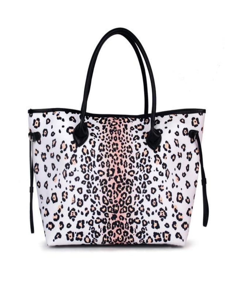 On The Go Tote-Bag and Purses-Alibaba-White Leopard-Inspired Wings Fashion