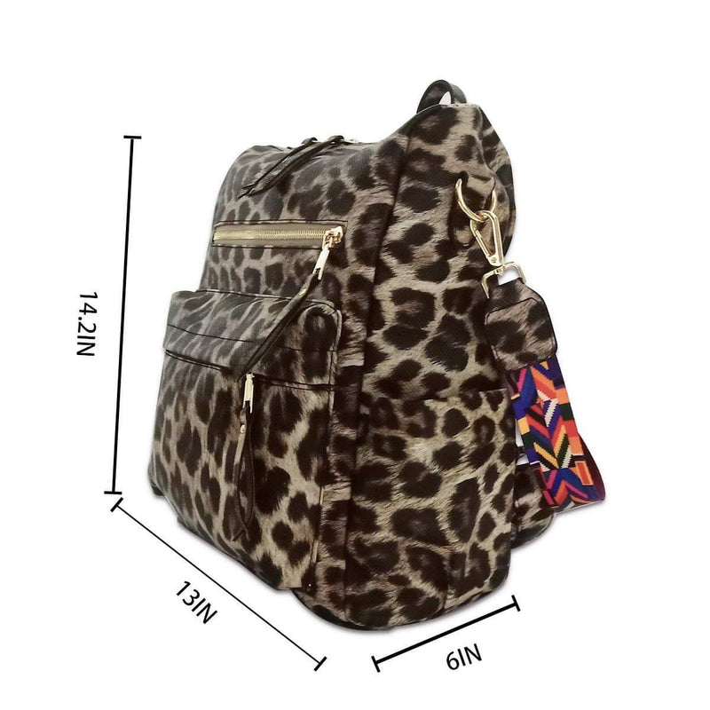 Julia Convertible Bag-Bag and Purses-Julia Rose Wholesale-Dark Leopard-Inspired Wings Fashion