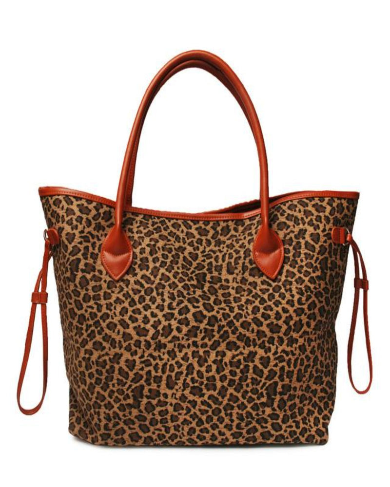 On The Go Tote-Bag and Purses-Alibaba-Brown Leopard-Inspired Wings Fashion