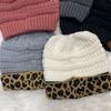 Messy Bun Beanies-Accessories-Suzy Q USA-Ivory/leopard-Inspired Wings Fashion