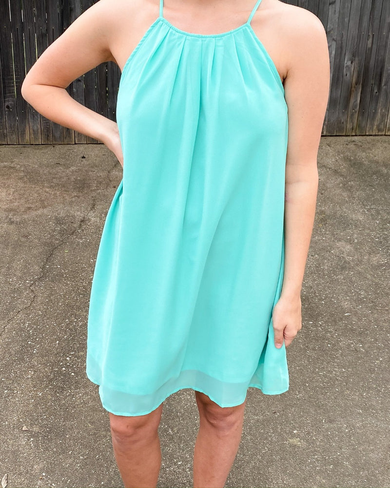 Shine Through Me Midi Dress-Dresses-Staccato-Small-Mint-Inspired Wings Fashion