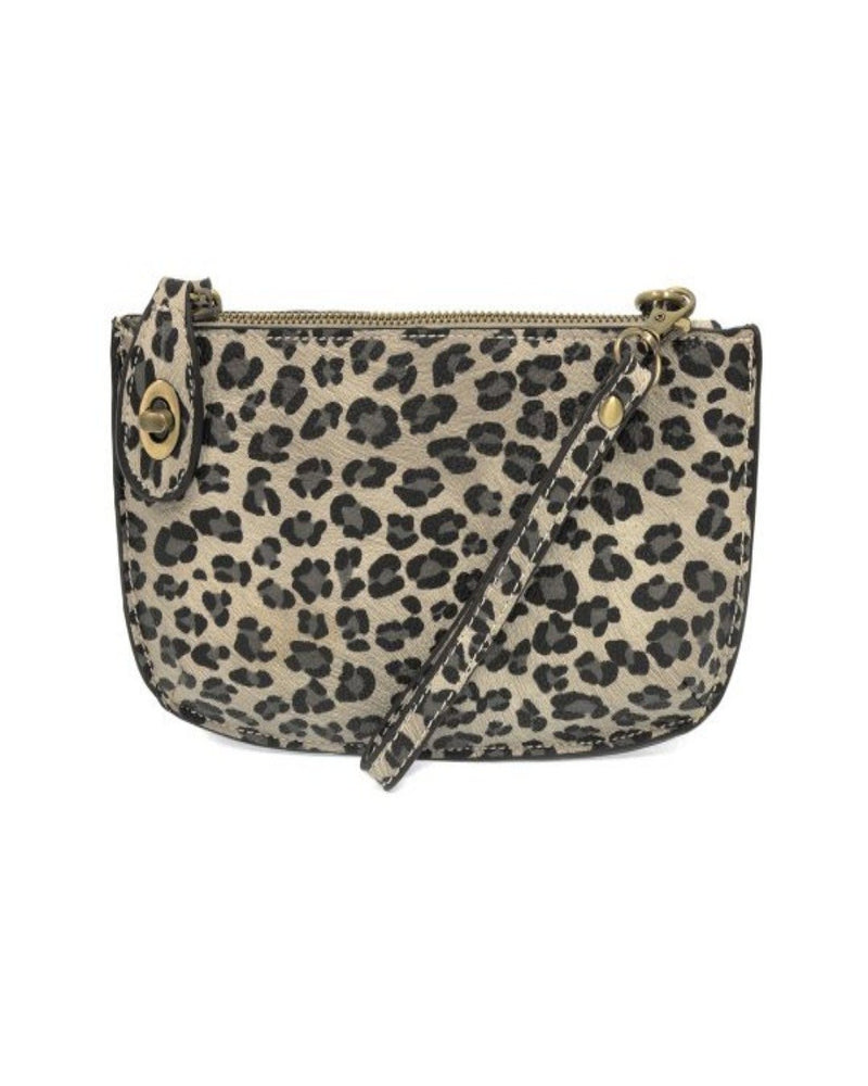 Mini Crossbody Wristlet Clutch-Bag and Purses-Joy Susan-Grey Leopard-Inspired Wings Fashion