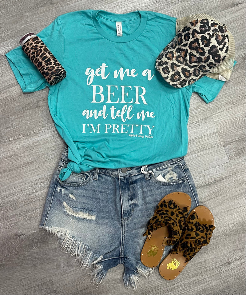 Get me a Beer Shirt-Tops-Spirit Star-Small-Black-Inspired Wings Fashion