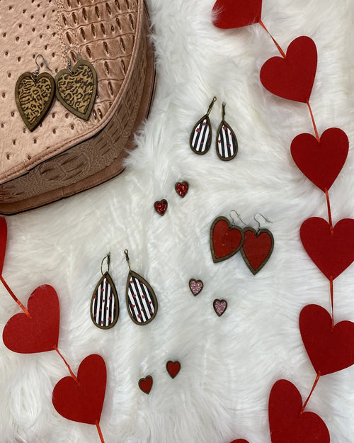 Valentine's Earrings-Accessories-Sweet Ginger Jewelry-Stripes-Inspired Wings Fashion