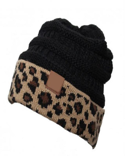 Leopard Beanie-hat-Alibaba-Black-Inspired Wings Fashion