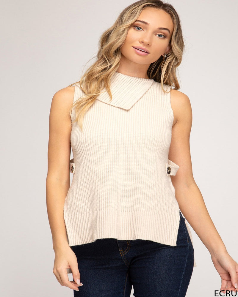 Unique Turtle Neck Sweater-Tops-She+Sky-Small-Beige-Inspired Wings Fashion