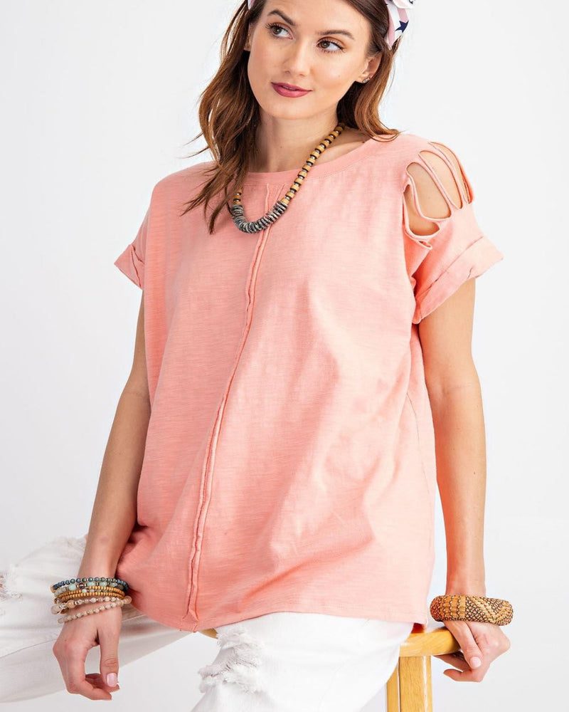 Roll That Cotton Top-Tops-Easel-Small-Coral-Inspired Wings Fashion