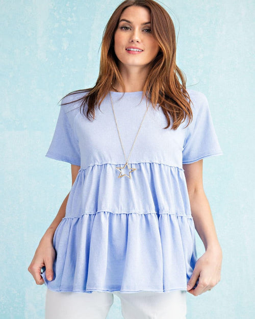 Heart My Peplum Top-Tops-Easel-Small-Blue-Inspired Wings Fashion