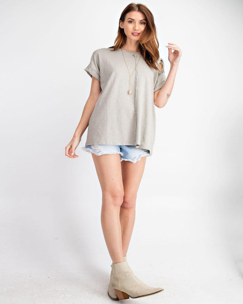 Roll That Cotton Top-Tops-Easel-Small-Grey-Inspired Wings Fashion