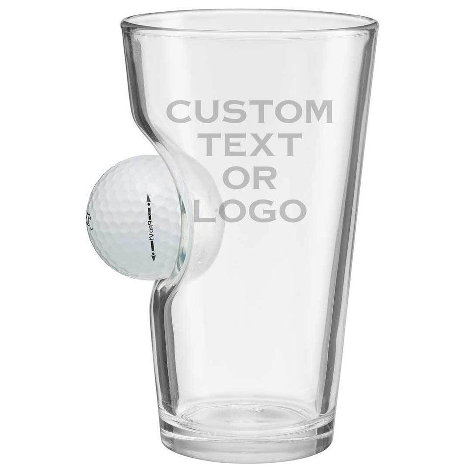 Golf Ball Pint Glass - Gemsho Glass