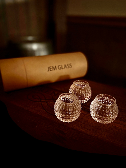 Golf Ball Shot Glasses - Set of 3 - Gemsho Glass