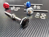 Quick Release Latch - Push Button (Black / Red / Blue / Silver)
