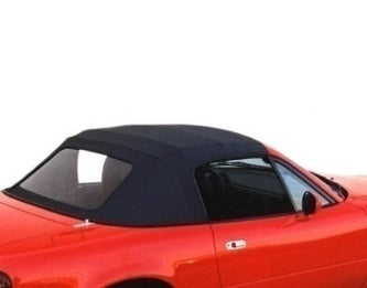 Soft Top Skin - Black Vinyl w/ Plastic Window [2pc Original Look] (NA)