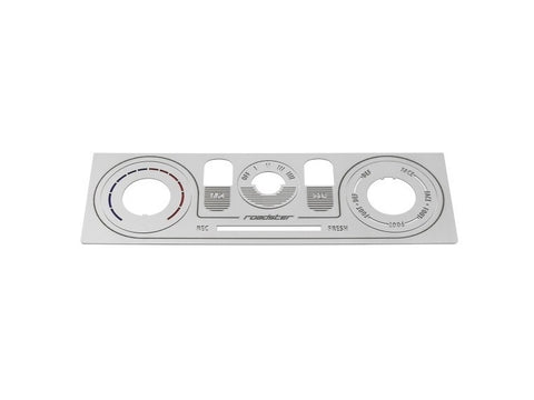 Brushed Stainless / Black Heater Panel (HVAC) - Jass Performance (NB 1998-2004)