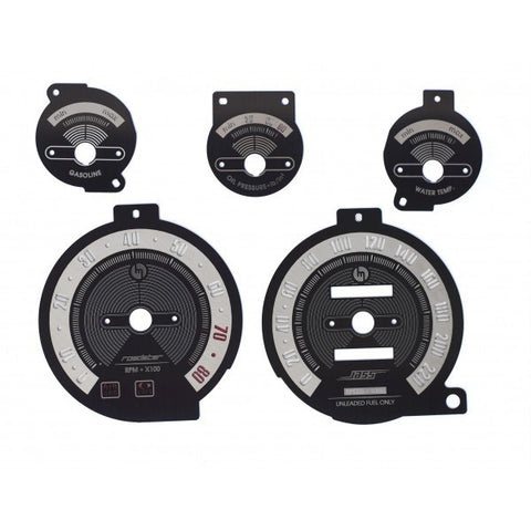 Classic Stainless Steel Black Brushed Gauge Faces - Jass Performance - (NA 1989-1997)