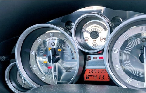 Classic Stainless Steel Gauge Face - Jass Performance (NC 2005-2008)