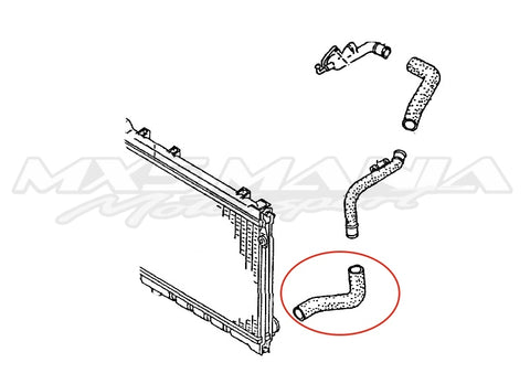 Lower Radiator Hose  - Genuine Mazda (NA6/NA8)