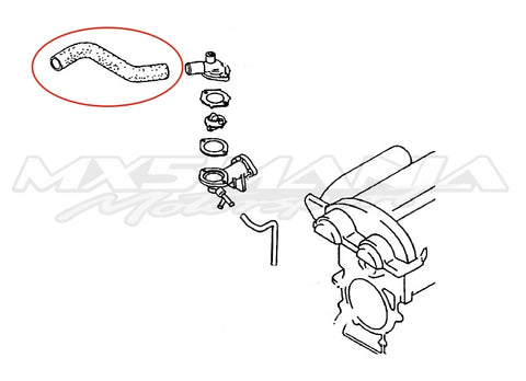 Upper Radiator Hose  - Genuine Mazda (NA6)