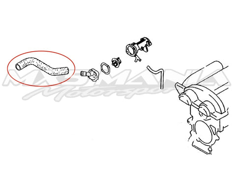 Upper Radiator Hose  - Genuine Mazda (NB)