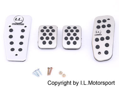 Brushed Aluminium Pedals by I.L.M - Pedal Set (NA/NB 1989-2004)