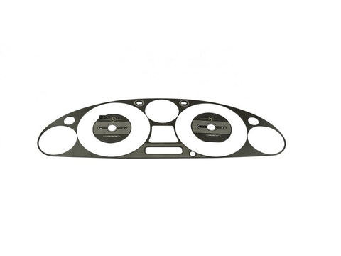 Instrument Cluster Bezel, Engraved Black Brushed Stainless Steel - Jass Performance  (NB 1998-2004)