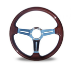 Autotechnica Indy Woodgrain Chrome Spoke Steering Wheel (NA/NB 1989-2004)