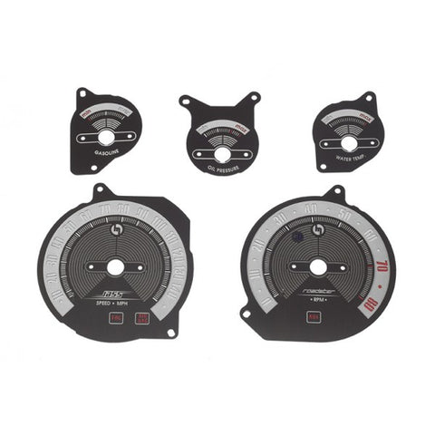 Classic Black Brushed Stainless Steel Gauge Faces - Jass Performance - (NB 1998-2004)