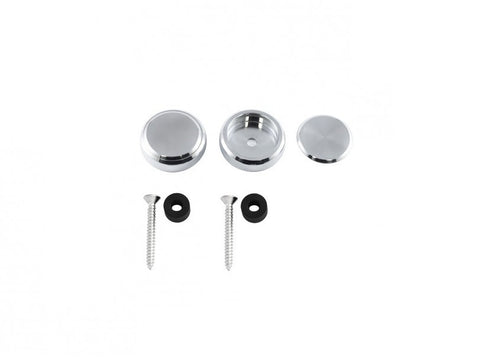 Vintage Style Door Pull Caps Silver Polished Aluminium - Jass Performance (NA 1989-1997)