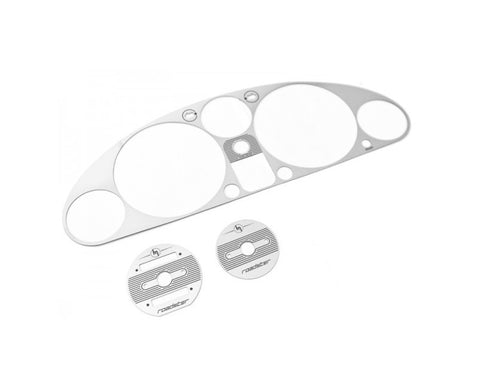 Engraved Instrument Cluster Bezel, Black Brushed Stainless Steel - Jass Performance   (NA 1989-1997)
