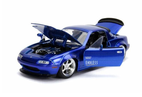 Boxed 1/24 Scale Approx 19cm Blue NA Hard Top JDM Tuners