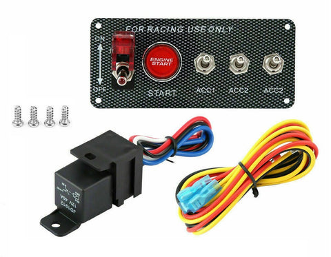 Race Engine Start Push Button Ignition Switch Panel