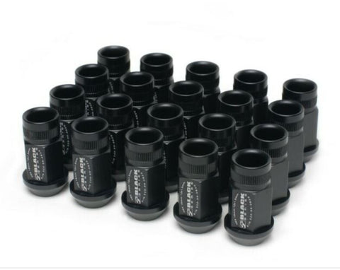 Skunk2 Forged Lug Nut Set  20 Pieces M12x1.5 Black (NA/NB/NC/ND)