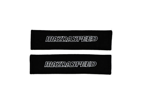 Seatbelt Shoulder Pads with Mazdaspeed Logo (Pair) - Fabric Style