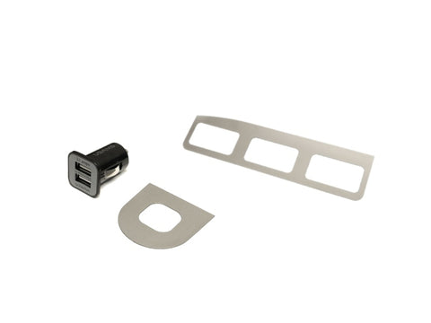 USB Lighter Charger and Button Bezels - Brushed Finish - Jass Performance (NA 1989-1993)