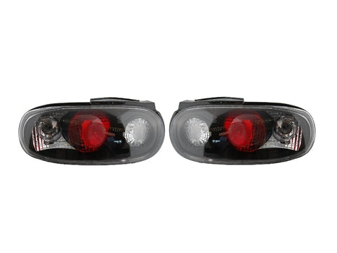 Black/Clear Rear Tail Light Pair (NA)
