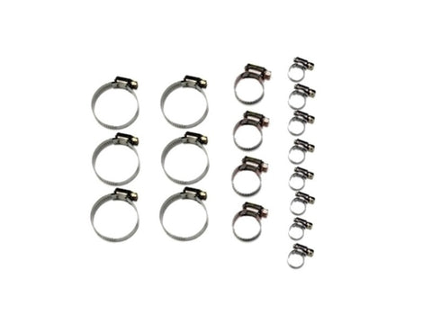 Hose Clamp Kit Solid Band 18 Piece (NA 1989-1997)