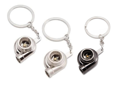 Key Ring - Turbo (Silver / Chrome / Black)