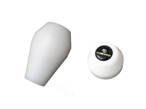 White Teflon Gear Shift Knob with Mazdaspeed Emblem (NA/NB 1989-2004)
