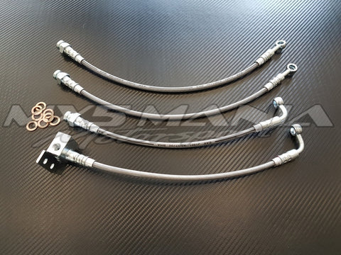 Braided Brake Lines - ADR Approved - Clear Stainless (NA/NB 1989-2004)