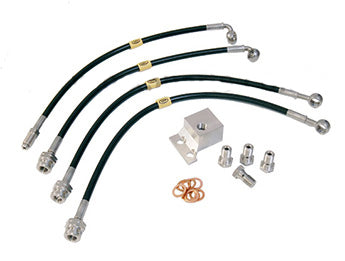 Braided Brake Line Kit by HEL Performance (Brakes Lines) - Black (NA/NB 1989-2004)