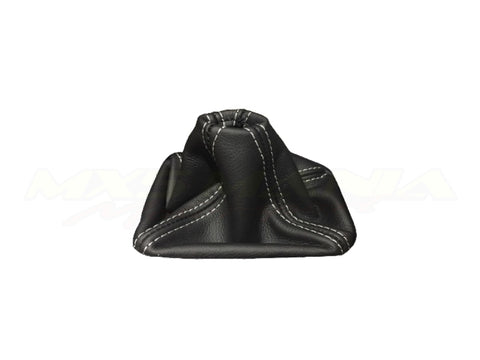 Leather Gear Shift Boot - Black w/ White Stitching (NA/NB)