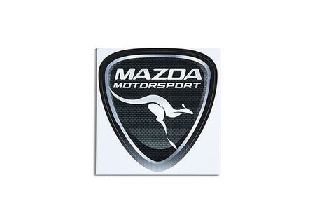 'Mazda Motorsport' Shield Single Sticker  - Genuine Mazda