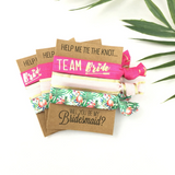 1, 2 or 3 Hair Ties Bachelorette Party Favors Accessories KIT Small Gift Bridesmaids Proposal Pop The Question